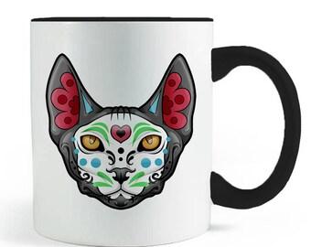 Sugar Skull Sphynx Mug