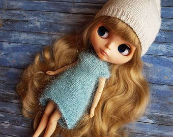 Blythe knitted dresses by NikiDollsToys