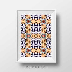Azulejo Print Etsy - Portugiesische fliesen azulejos