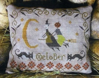 Primitive Cross Stitch Pattern - Fancey Blackett - October Ride!