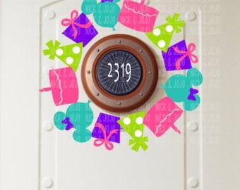Minnie Birthday Wreath - Disney Cruise Magnet- Door Magnet