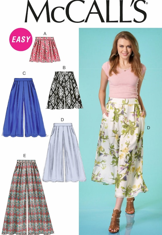 Palazzo Pants Pattern, Wide Leg Shorts, McCall\'s Sewing Pattern 7131