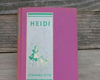 Rare 1915 Classic HEIDI Hardcover Book by Johanna Spyri