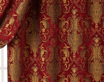 """Chenille Damask Fabric,  Renaissance Home Decor Upholstery  Upholstery, 58"""" wide, sold by the yard, and more colors."""