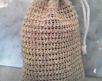 Eusi's Organic African Sisal Washcloth Soap Saver Pouch
