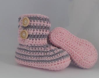 Baby Booties stripes