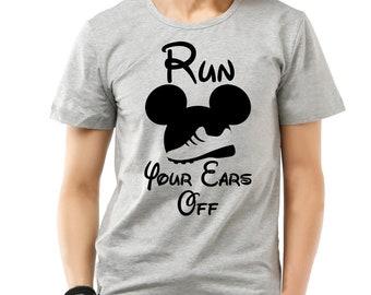 Run Your Ears Off Men's heather grey t-shirt.
