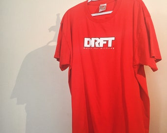 DRFT Drifting Racing Tee in Red Size XL