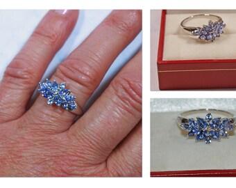 925 Silver Tanzonite Dress Ring