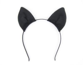 Bat Ears Headband Plush Fabric Bat Ears Headband