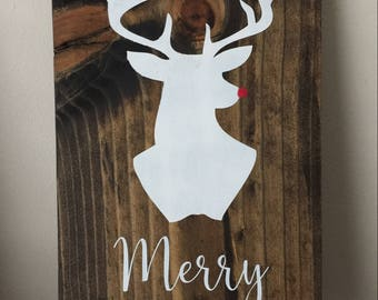 Christmas Sign • Rudolph Sign • Christmas Decor • Xmas • Xmas Sign • Xmas Decor • Reindeer Sign • Winter Decor • Merry Christmas