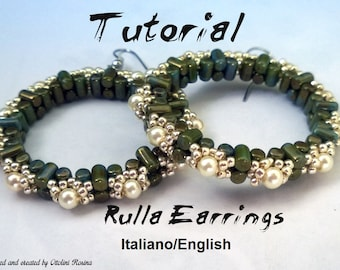Rulla Earrings ( Tutorial graphics images and photos step by step in Italiano or English)