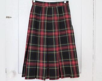 Skirt Stewart Tartan Plaid New Stewart Black Box Pleats