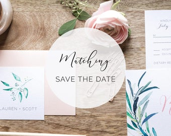 Matching Save the Date  for any design in the shop