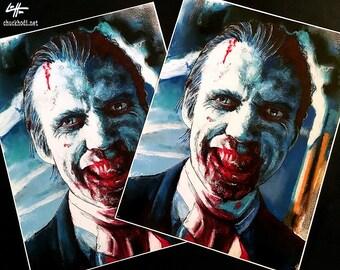 "Impression 11 x 14""- Doom-tête - Rob Zombie 31 Richard Blake Clown Carnaval Dark Art horreur Halloween Murderworld shackur Pop Art Lowbrow sang"