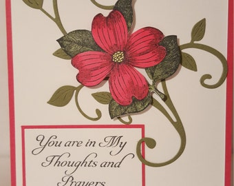 You are in my Prayers Sympathy Handmade Card