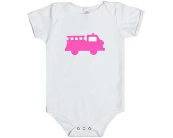 Pink Firetruck bodysuit