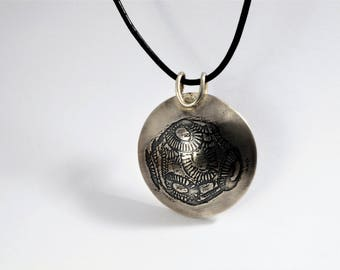 Etched Pendant: Phytoplankton