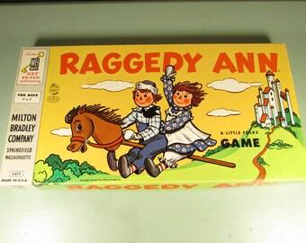 Raggedy Ann Board Game - Vintage Milton Bradley 1954 Preschool
