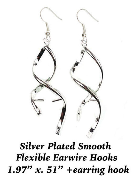 Findings earring set for bead silver plated  **FREE Shipping with orders 10 dollars+ **