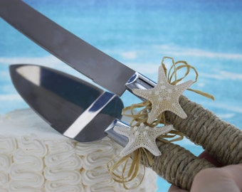 Starfish Knife & Server Set / Starfish Wedding / Cake Knives / Beach Wedding Accessories / Destination wedding