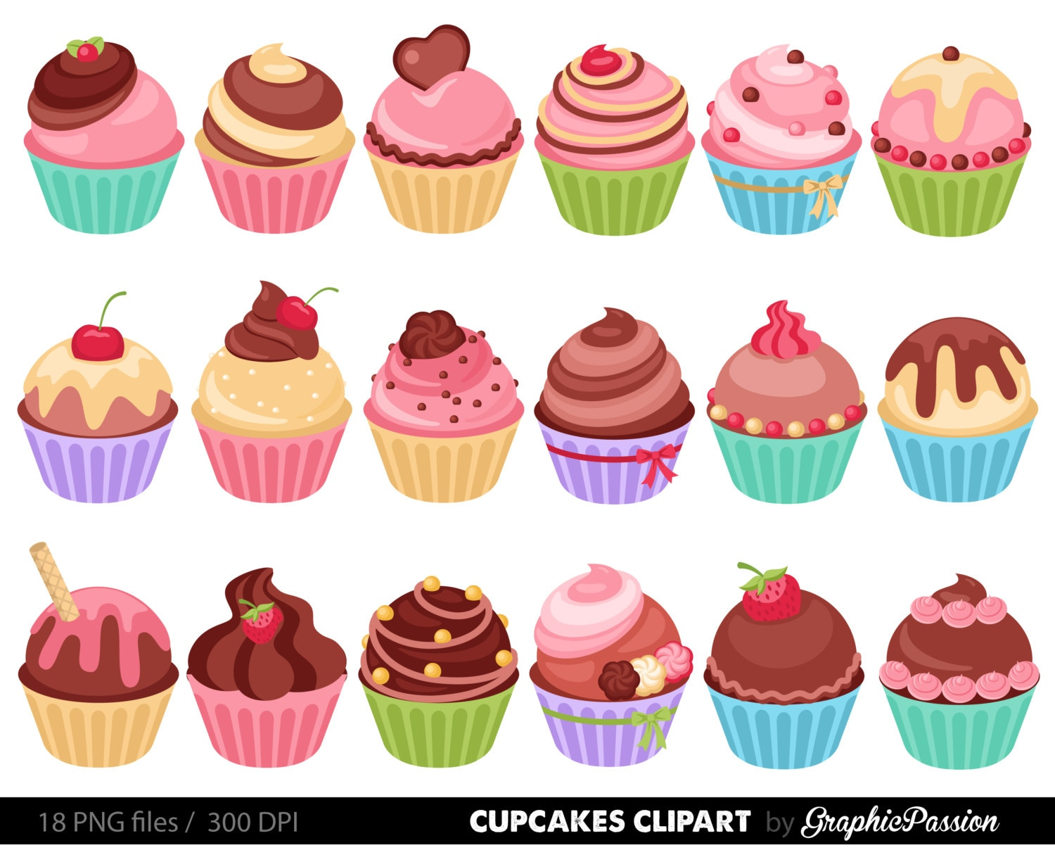 cup cakes clip art