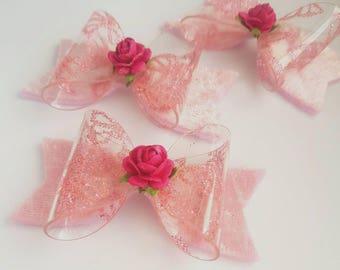 Butterfly bow/ handmade bow/ spring hair bow/ butterfly hair bow/ butterfly hair clip/ girls bow/ pink bow/ flower girl bow/ baby headband