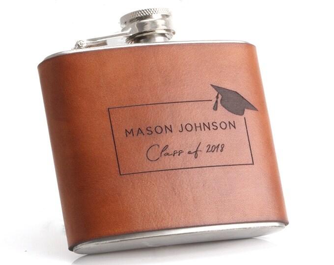 Graduation Gift for Him, Graduation Flask Personalized, Graduation Gift for Son, Graduation Gift for Boyfriend, College Graduation Gift