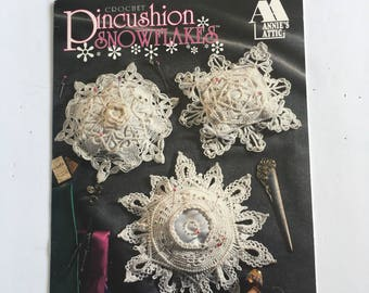 Vintage Annie's Attic Patterns for  Crocheted Snowflakes and Pin Cushions  DIY for Christmas