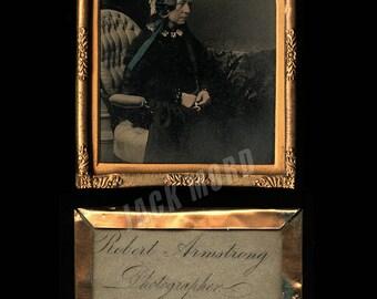 1850s Ambrotype by Robert Armstrong Edinburgh Scotland Photographer