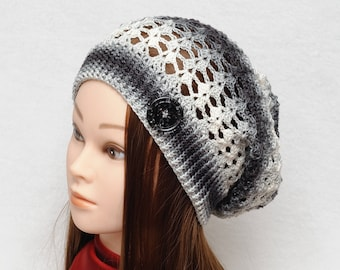 Boho style hat Sun hat Spring hat Womens Hats Slouch Hat Crochet Slouchy Beanie Crochet Beanie Summer Accessories Girlfriend Gift|for|her