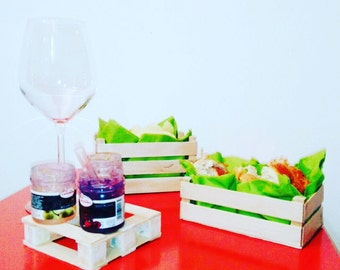 Mini wooden Fruit Boxes-objects/aperitif