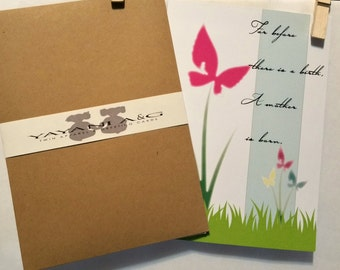 Early Loss ~ TWINS GREETING CARD, Miscarriage Card, Sympathy Card, Condolence Card, Loss of Baby, Death of Baby, Support, New Mom