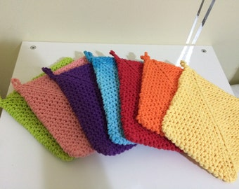 2 for 10 crochet potholders , hot pads , kitchen , cotton