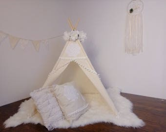 S Vintage toddler teepee / Kids play tent/ toddler teepee photo prop