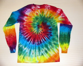 Tie Dye Spiral Long Sleeve T Shirt Adult Sizes