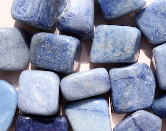 BLUE AVENTURINE Crystals (Grade A Natural) Tumbled Polished Gemstone Rocks for Healing, Yoga Meditation Reiki Wicca, Crafts Jewelry Supplies