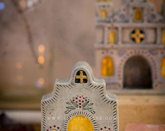 Sacred Shrine - Mexican Church, Home Altar, Travel Shrine, Devotional Space, Sacred Space, Prayer Niche Corner, Altar tools, Pocket Altar
