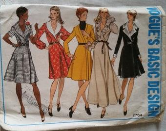 Vintage Vogue pattern 2764 size 14