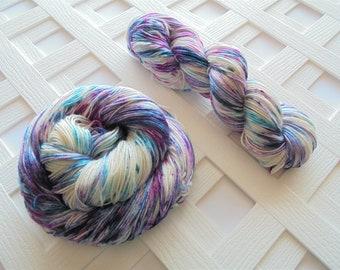 MONET Indie-Dyed Yarn, Handdyed Yarn, Fingering-Weight Yarn, Sock-Weight Yarn, Superwash Merino/Silk Yarn, Silk Yarn, Weave, Knit, Crochet