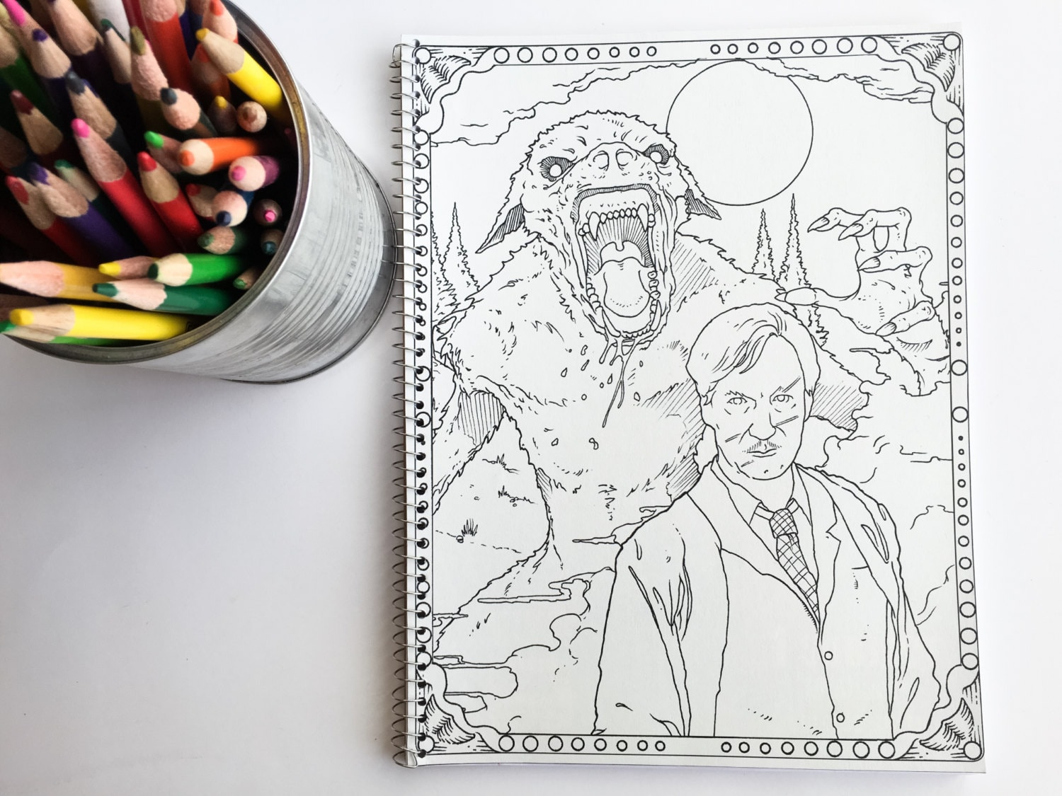 Harry Potter adult coloring book notebook with Lupin and