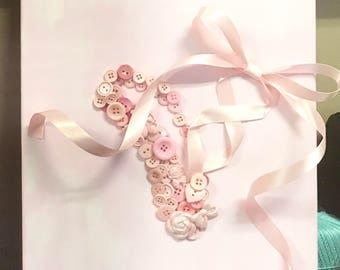 Ballet slipper Button Art