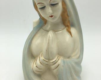 Madonna Vinrgin Mary vintage mid century planter