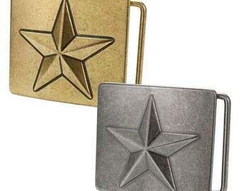 Star Belt Buckle- Free Engraving