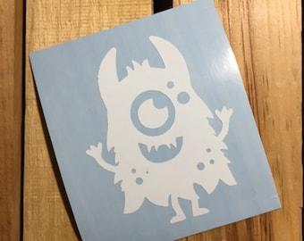 Silly Monster Vinyl Decal Sticker