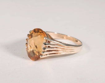 14K Yellow Gold Citrine Ring, size 5