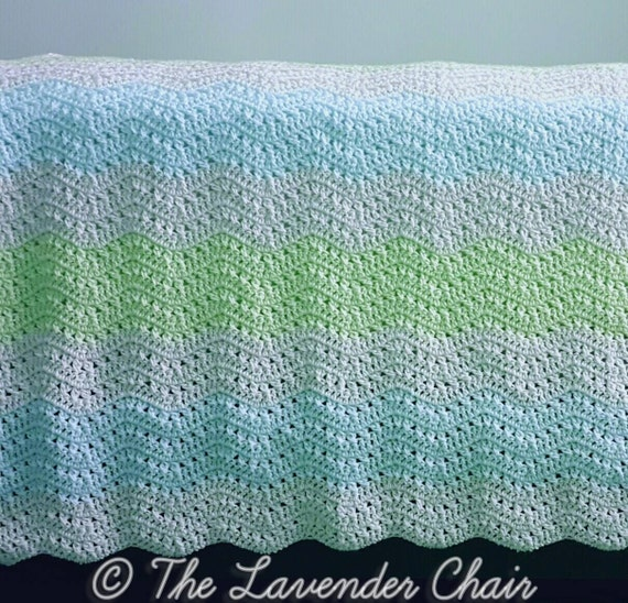 Crossed Double Ripple Afghan Crochet Pattern Pdf File Only