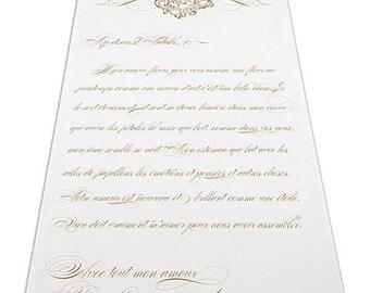 Parisian Love Letter Personalized Aisle Runner Wedding Ceremony Decoration