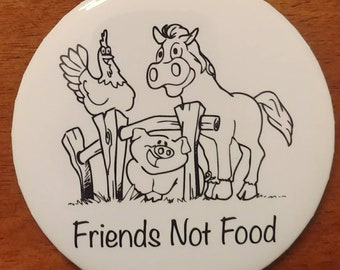 Friends Not Food - Pocket Mirror