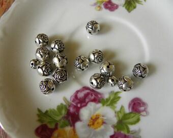Vintage Plastic Rosebud Beads